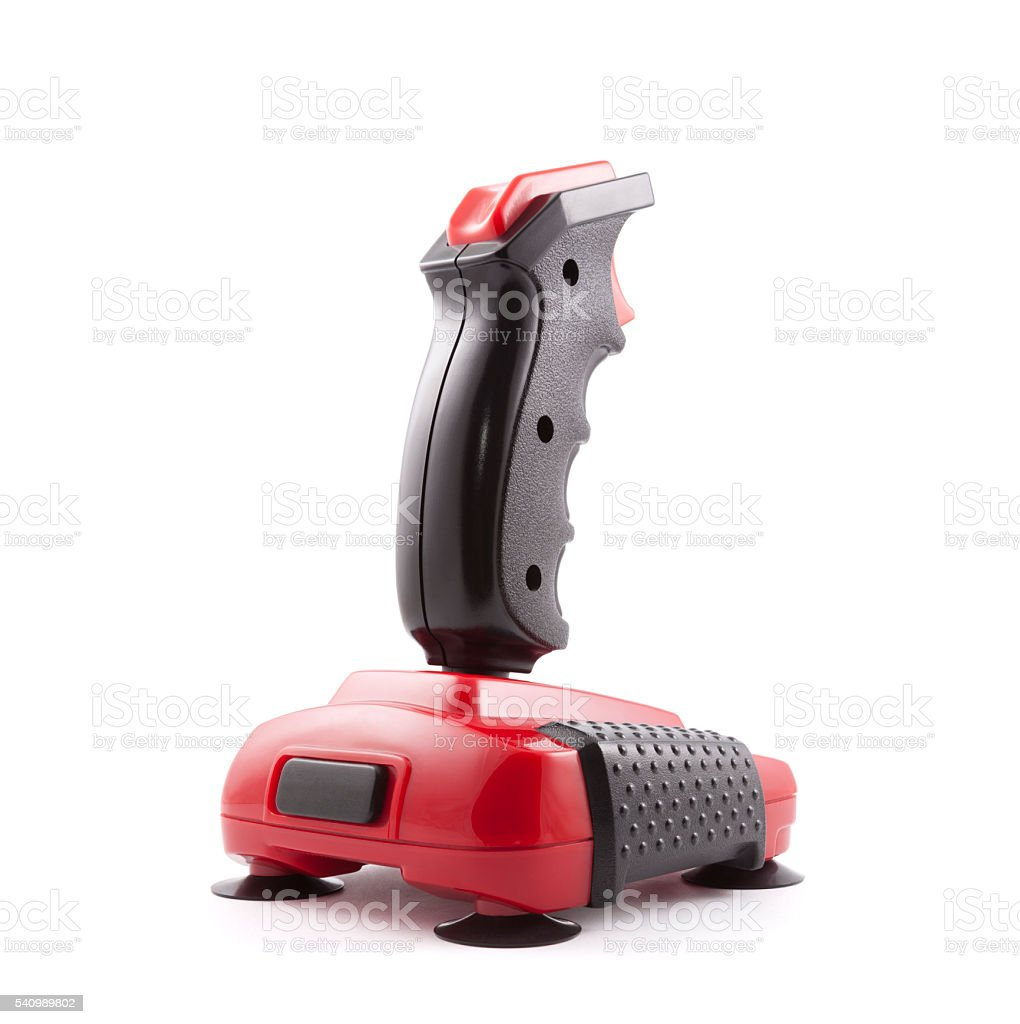 Classic joystick with clipping path stock photo