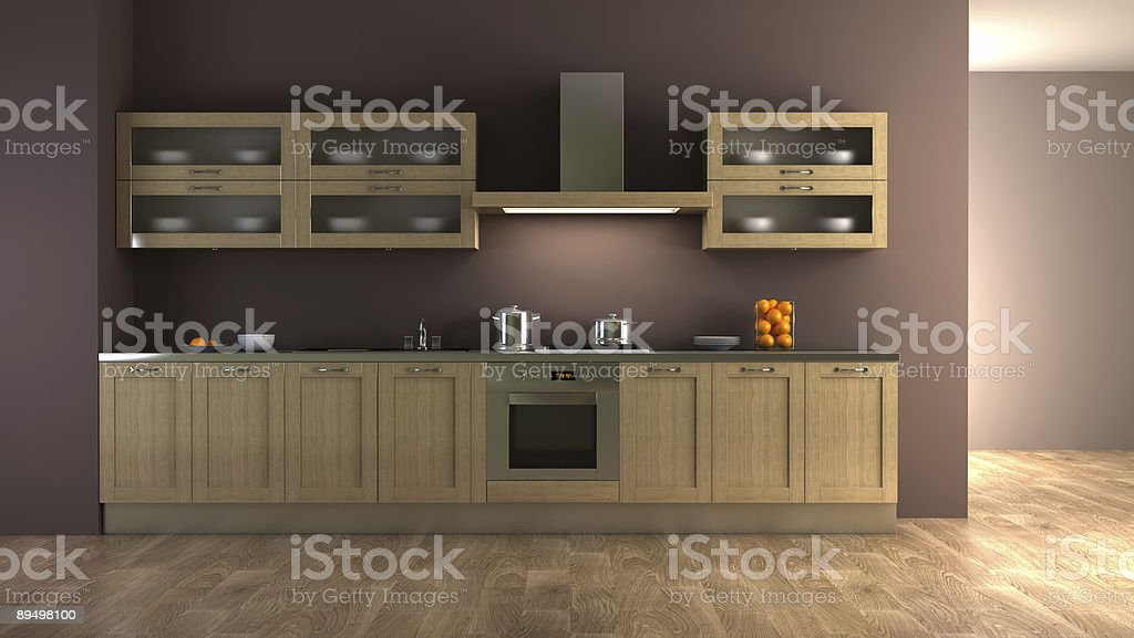 Classic kitchen interior design royalty-free stock photo