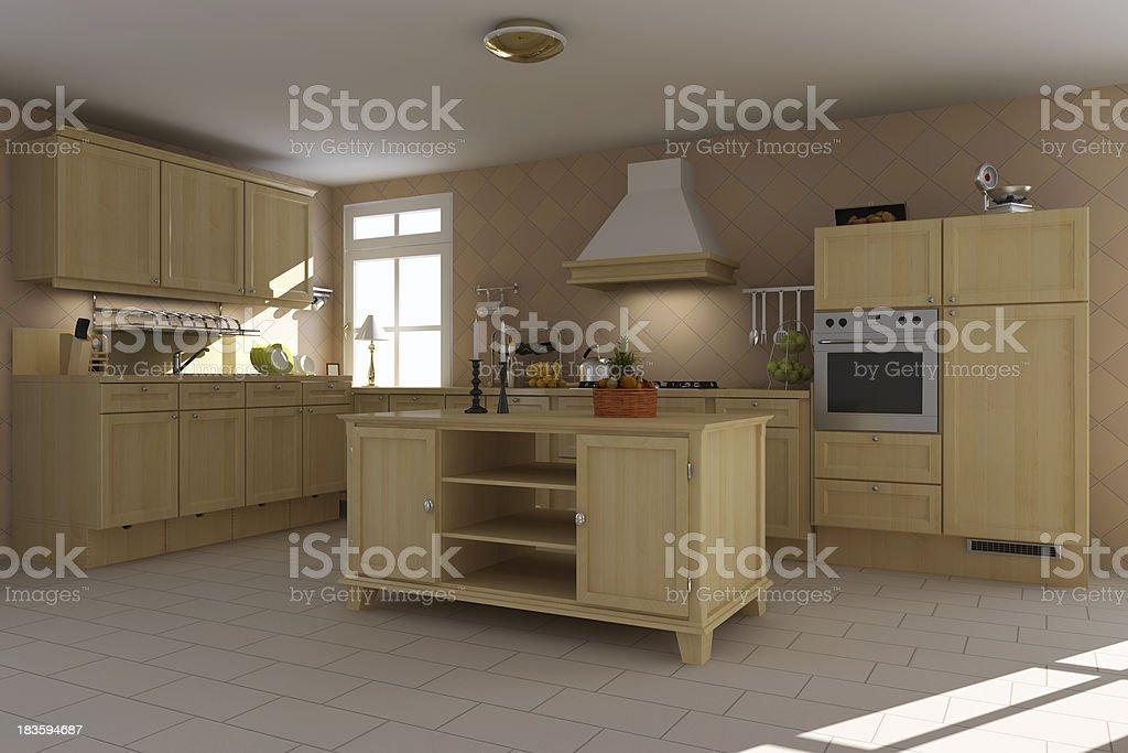 classic kitchen royalty-free stock photo