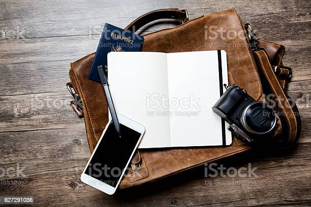 Classic leather briefcase with open notebook on wood picture id627291036?b=1&k=6&m=627291036&s=612x612&h=rdhcxwkzvntkcqhv0enfxl1yqlrj3dujowh02jywxai=