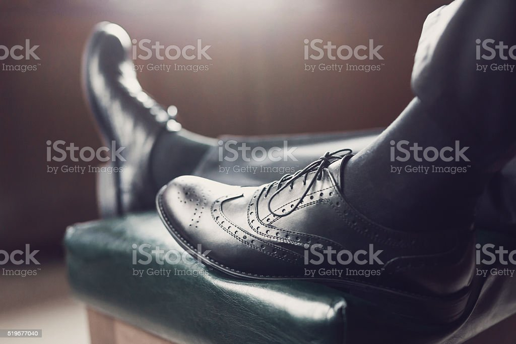 Classic Leather Shoes stock photo