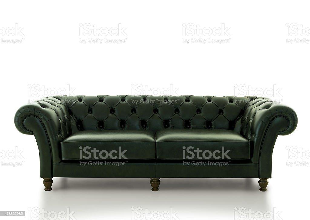 classic leather sofa stock photo