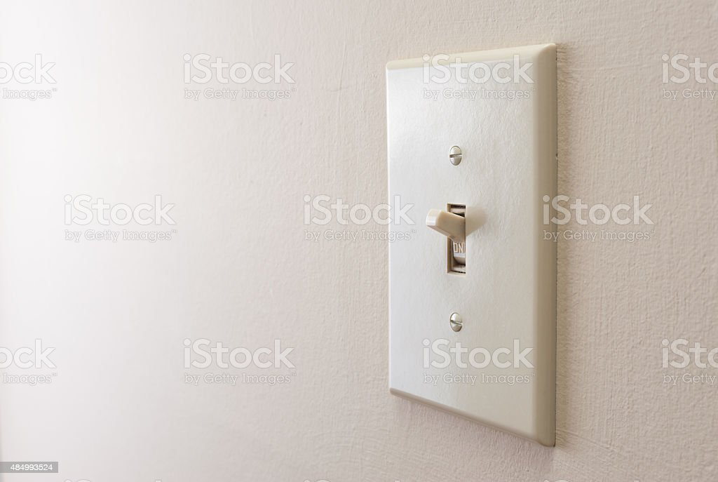 Classic light switch stock photo