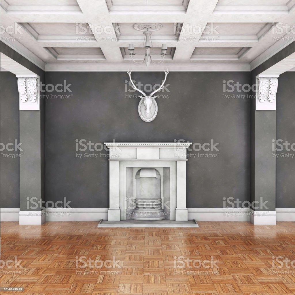 Klassische Wohnzimmer Interieur Mit Kamin Stockfoto Und Mehr Bilder Von Alt Istock