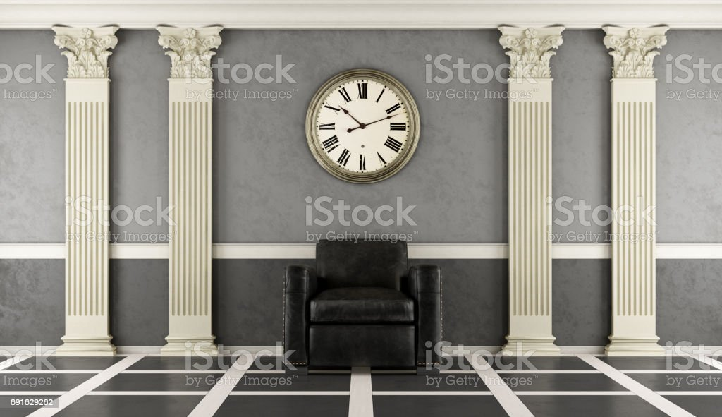 Classic living room stock photo