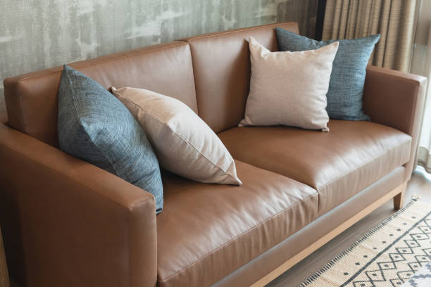 classic living room style with classic sofa stock photo
