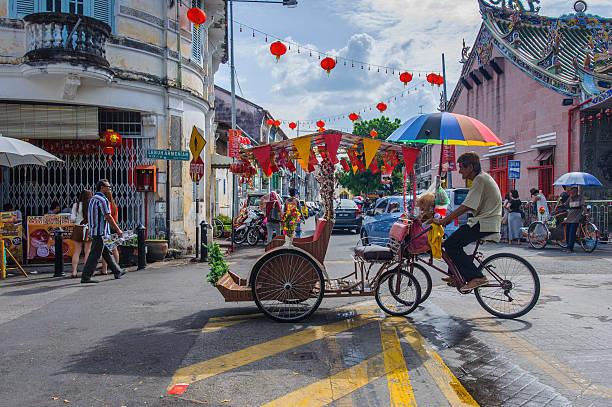 Classic local rickshaw stock photo