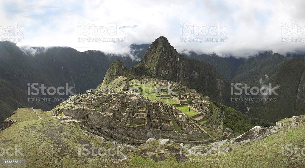 Classic Machu Picchu Panorama XXXL royalty-free stock photo