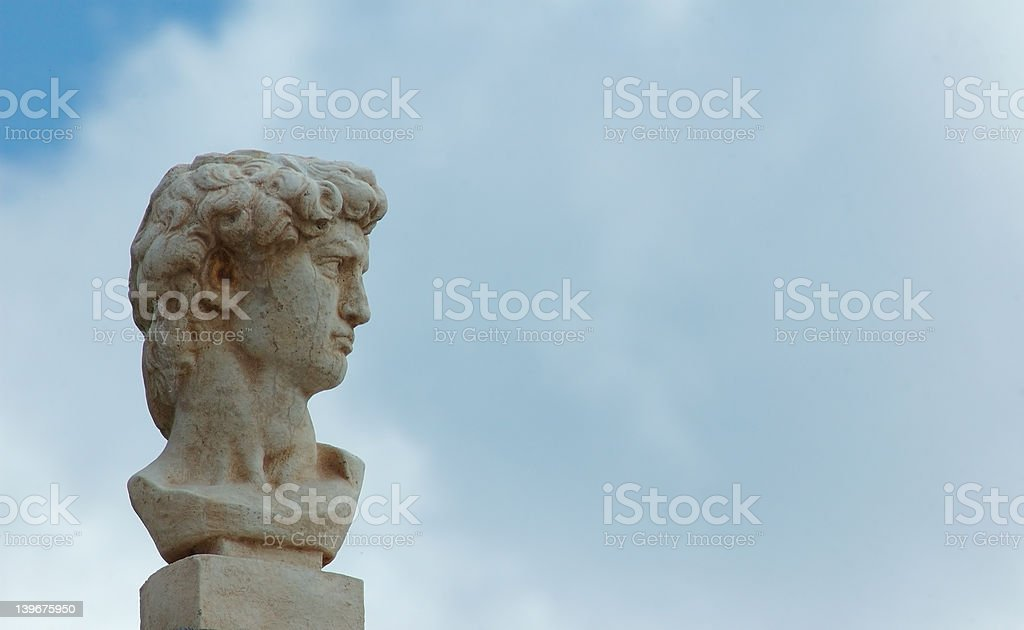 Classic male bust stock photo