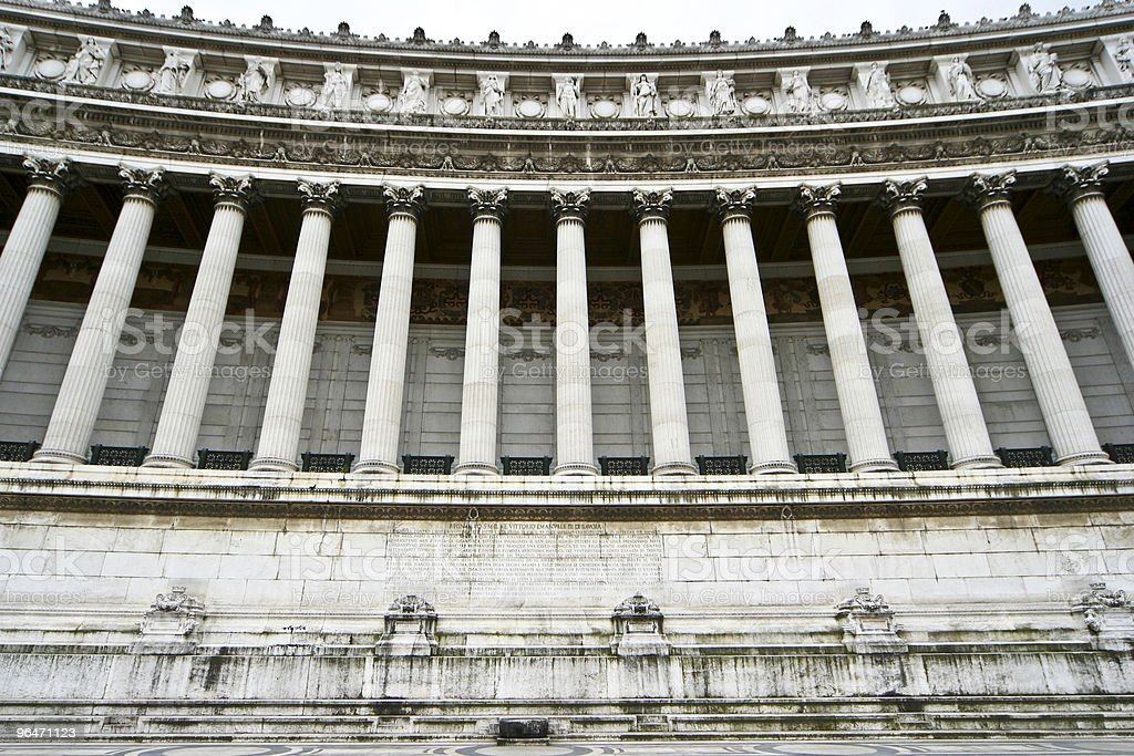 classic marble colonnade royalty-free stock photo