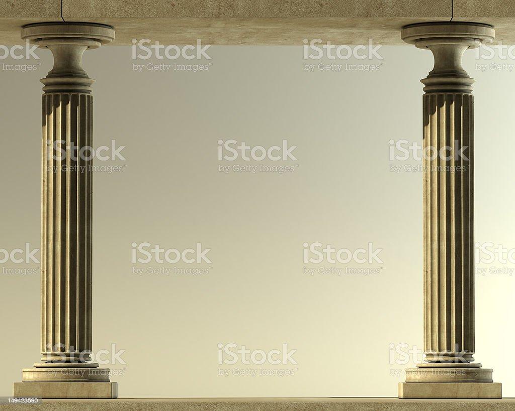 Classic Marble Column stock photo