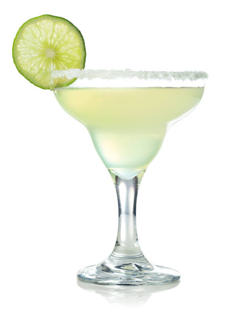 classic margarita cocktail with lime - margarita drink stock photos and pictures