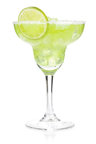 classic margarita cocktail with salty rim - margarita drink stock photos and pictures