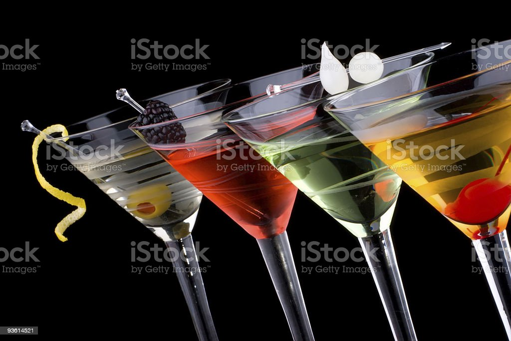 Classic martini - Most popular cocktails series royalty-free stock photo