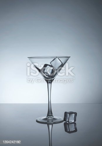 Martiny glass with ice
