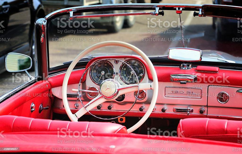 Classic Mercedes Benz interior royalty-free stock photo