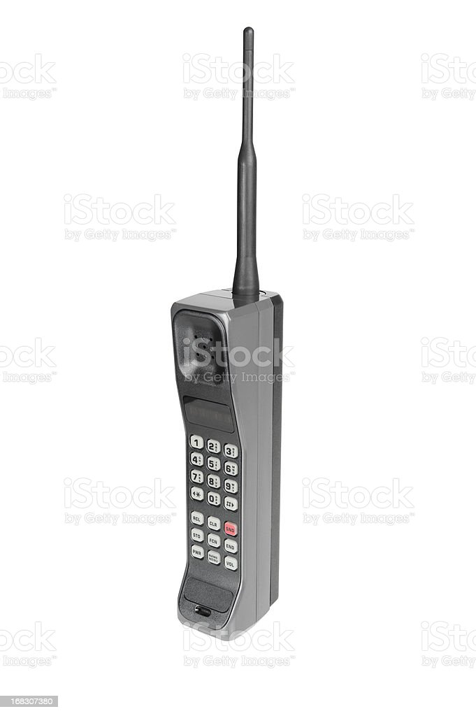 Classic Mobile Phone - Isolated on White with Clipping Path stock photo