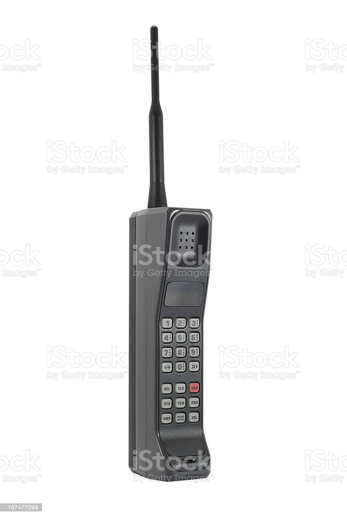 Classic Mobile Phone - Isolated with Clipping Path stock photo
