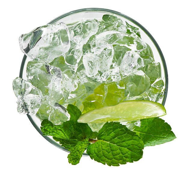 Classic Mojito Top vew of the classic Mojito Cocktail. The file has clipping path and exclusive to Istockphoto.com mojito stock pictures, royalty-free photos & images