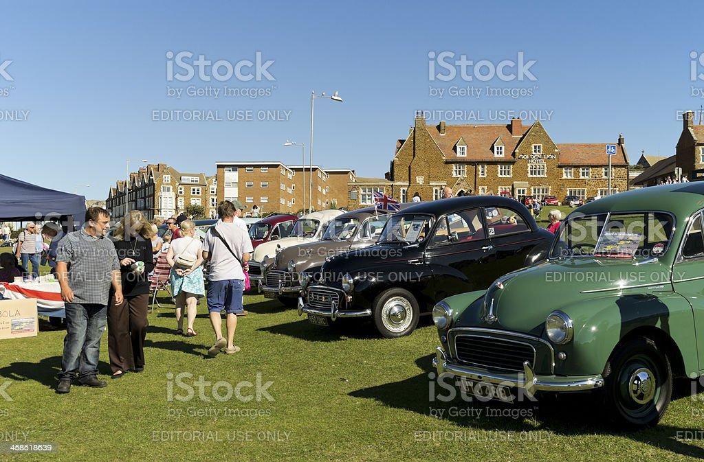 Classic Morris Minor event at Hunstanton royalty-free stock photo