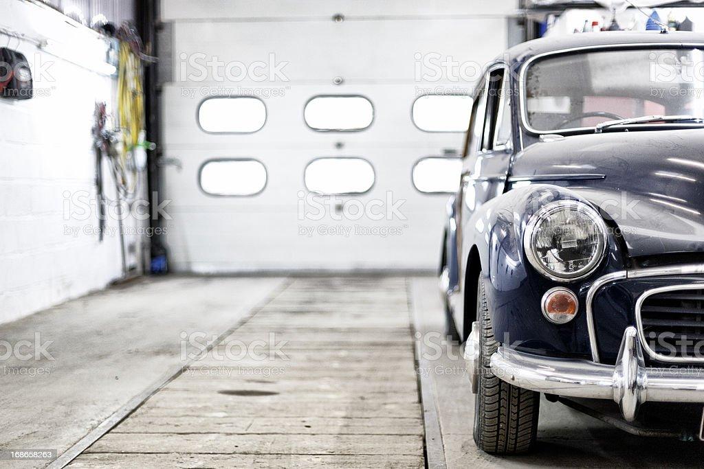Classic Morris Minor Traveller stock photo