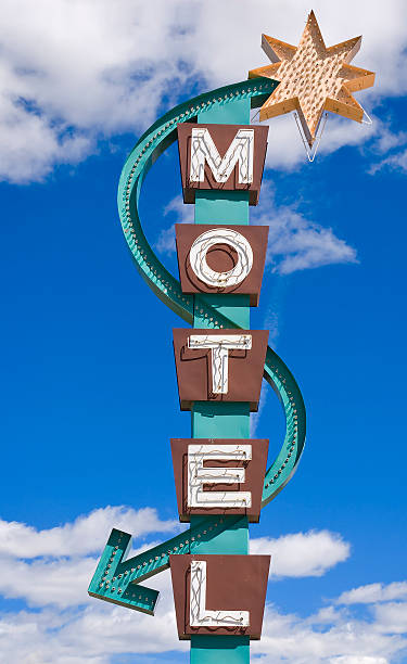 Classic Motel Sign stock photo