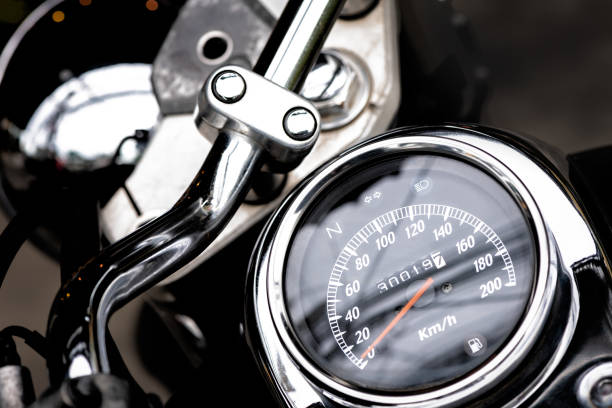 classic motorcycle mileage (dashboard , mileage) in white and black.classic motorcycle display odometer and fuel sign. classic motorcycle mileage (dashboard , mileage) in white and black.classic motorcycle display odometer and fuel sign. dashboard vehicle part stock pictures, royalty-free photos & images