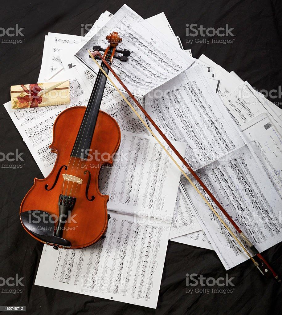 Classic music instrument stock photo