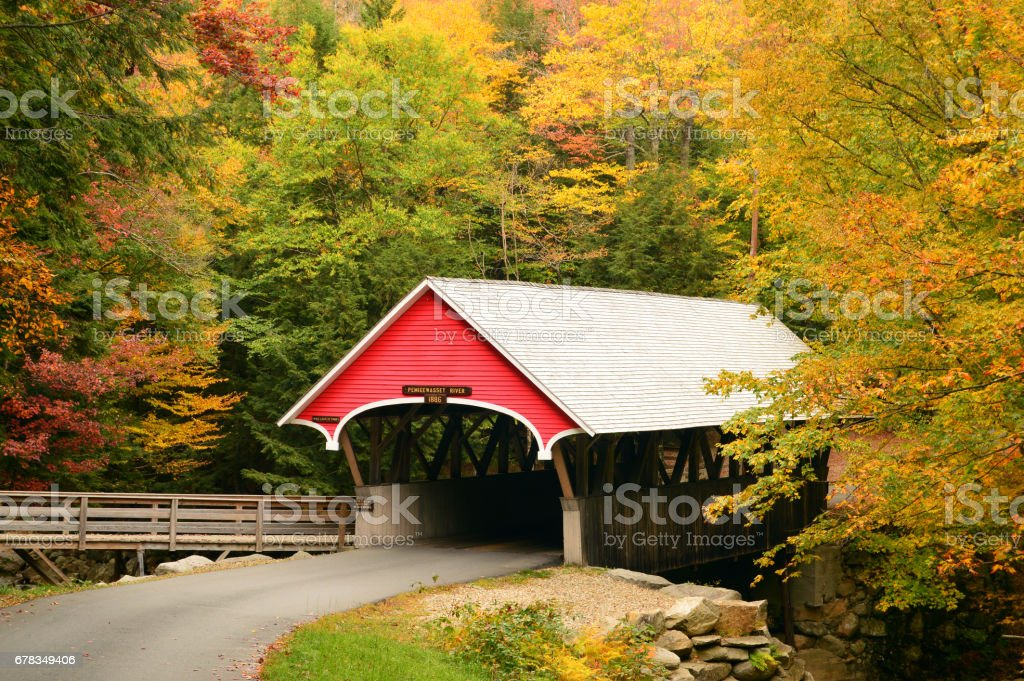 A classic New England Scene stock photo