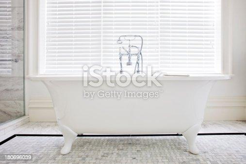 Classic Old Style Bathtub with feet. Horizontal.