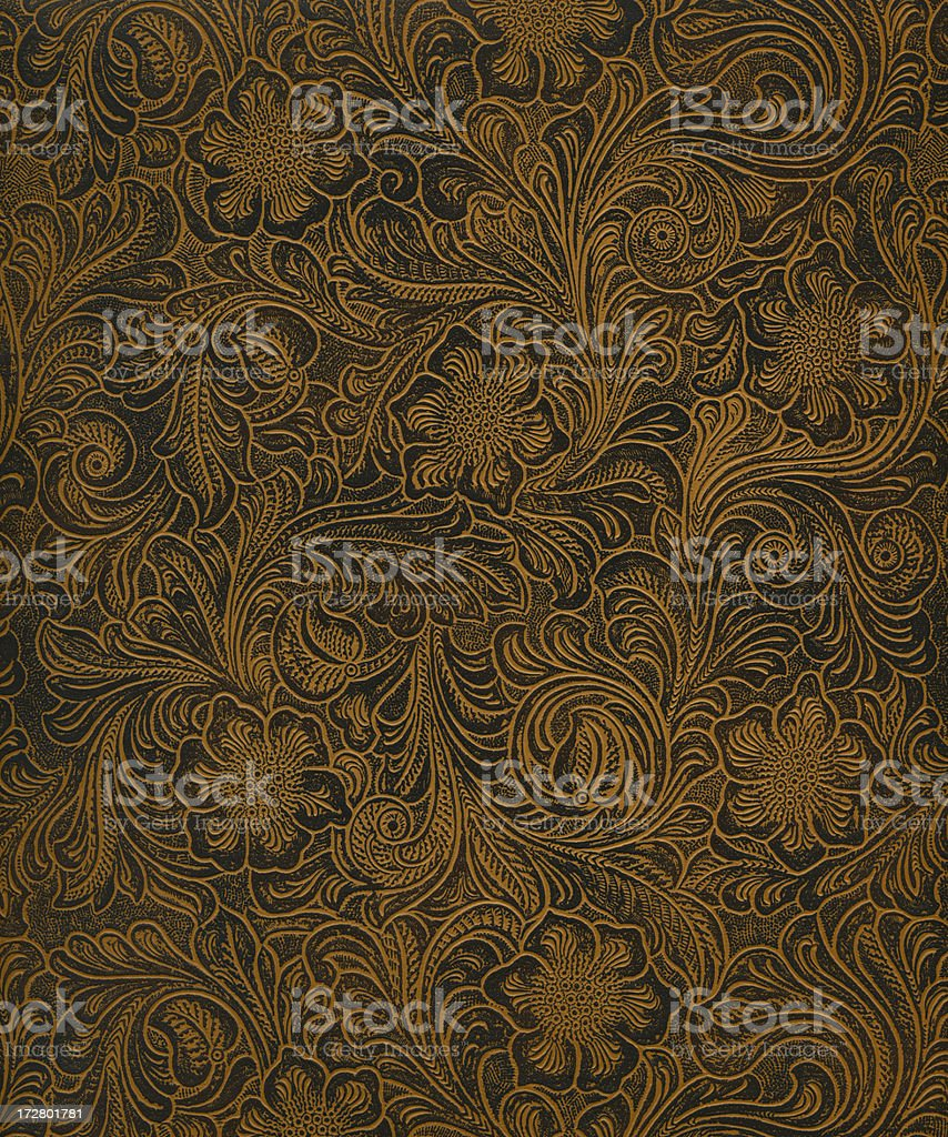 classic pattern on faux leather stock photo