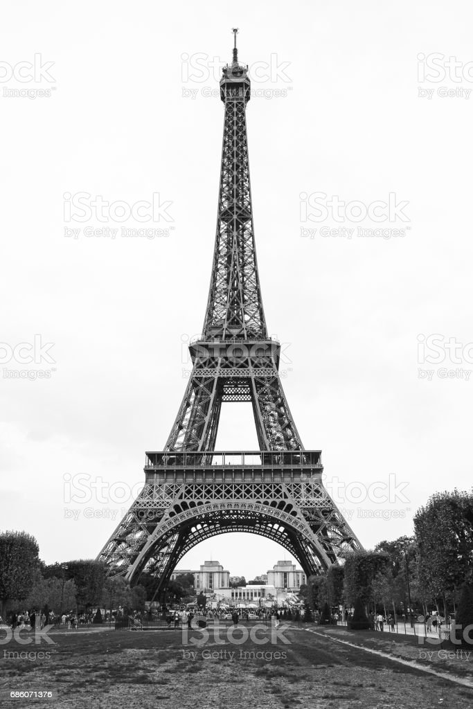 Classic Photo Of Paris Eiffel Tower In Black And White Stock Photo Download Image Now Istock