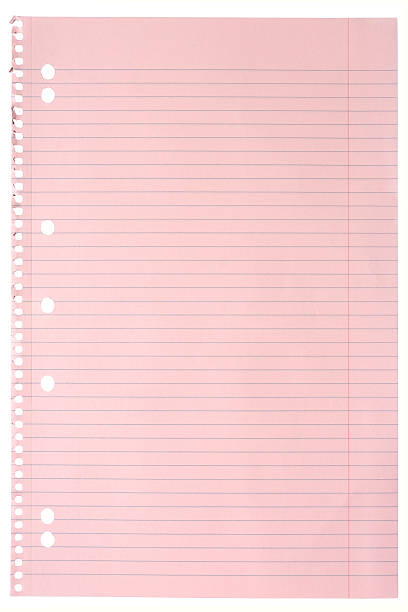 classic pink note pad paper, isolated stock photo