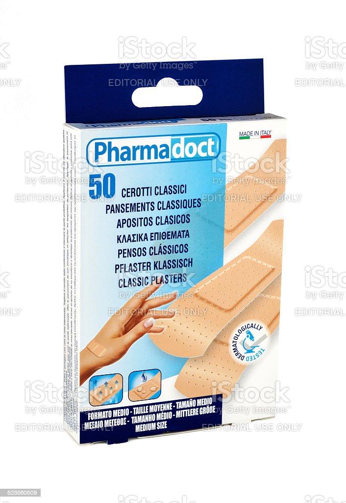 Classic Plasters Pharmadoct 50 pcs stock photo