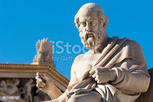 istock classic Plato statue 801468792