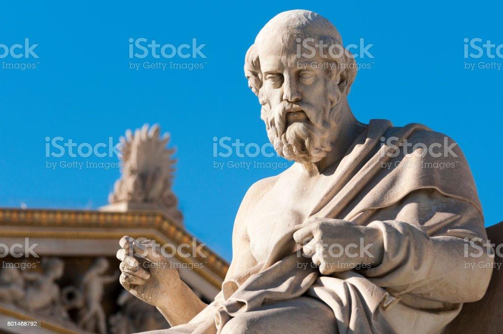 estátua de Plato clássica - foto de acervo