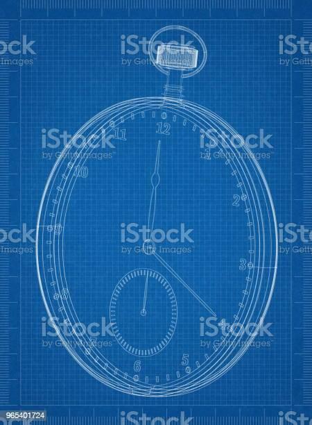 Foto de Modelo Clássico De Arquiteto De Relógio De Bolso e mais fotos de stock de Alarme