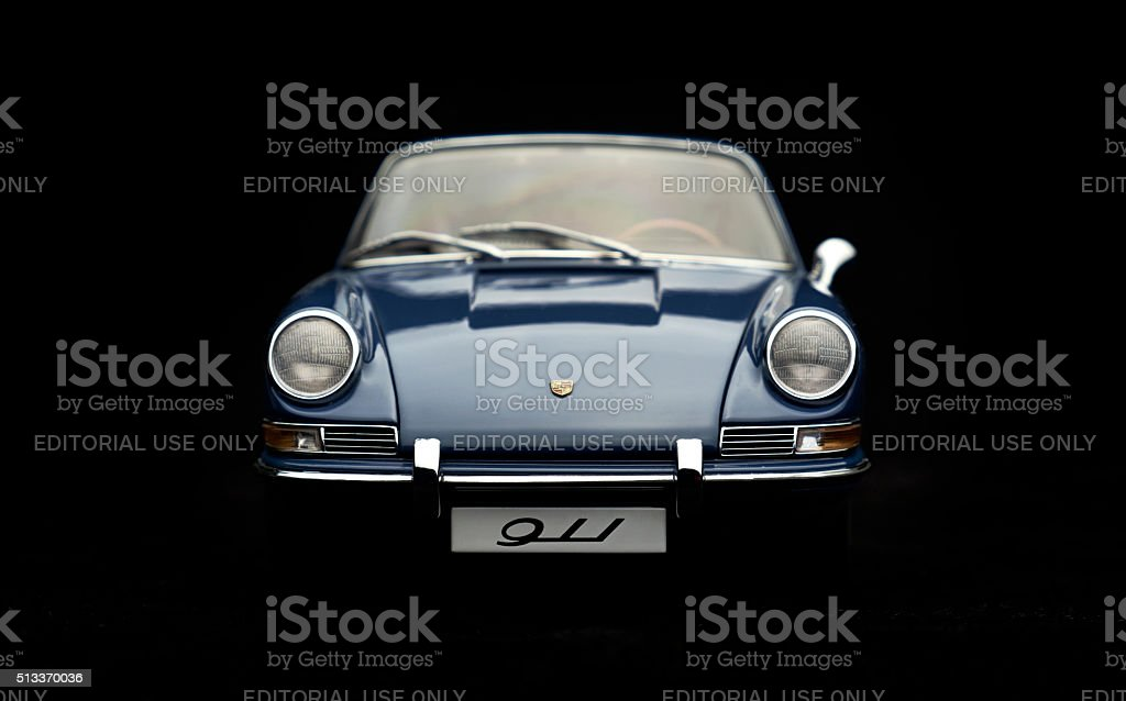 Classic Porsche 911 Model Front View stock photo
