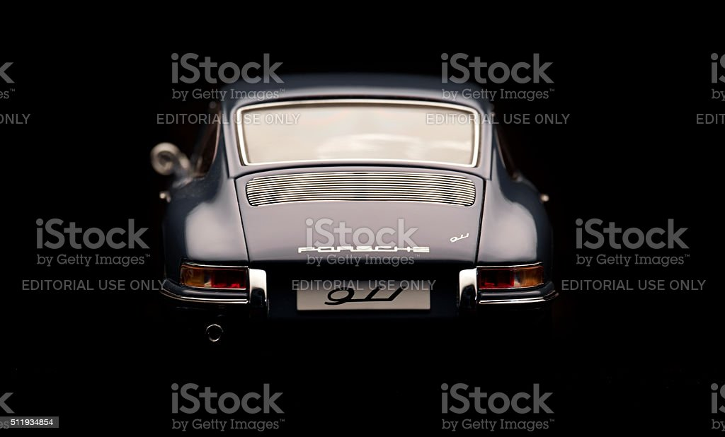 Classic Porsche 911 Model Rear View stock photo
