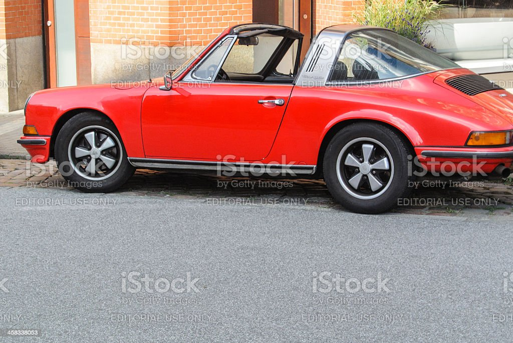 Classic Porsche 911 Targa stock photo