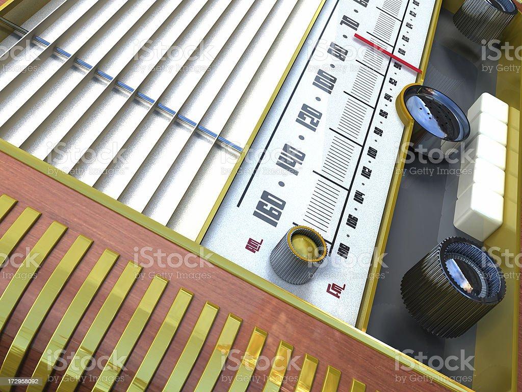 Classic radio background royalty-free stock photo