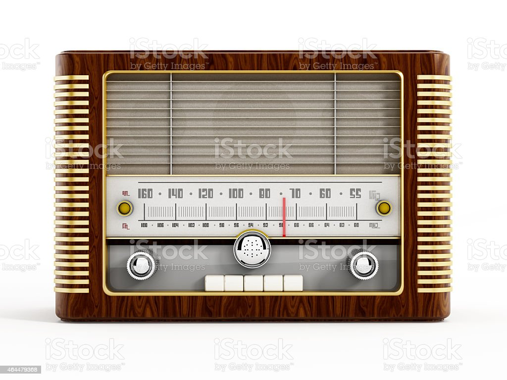 Classic radio stock photo