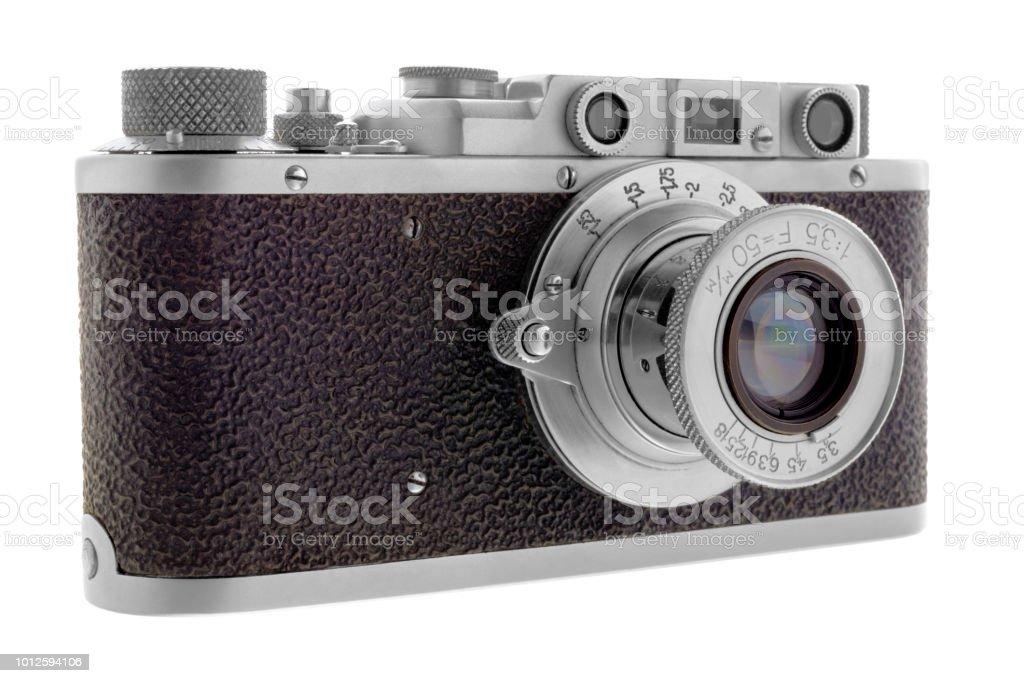 Classic rangefinder camera stock photo