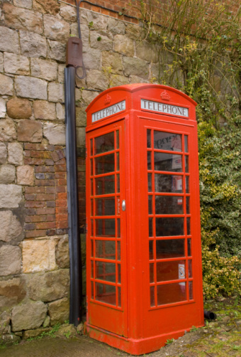 Classic Red British Telephone Box Stock Photo - Download Image Now