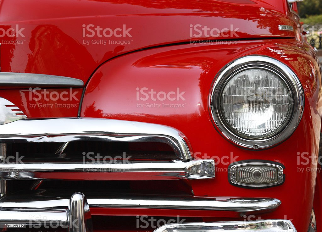 classic red car stock photo