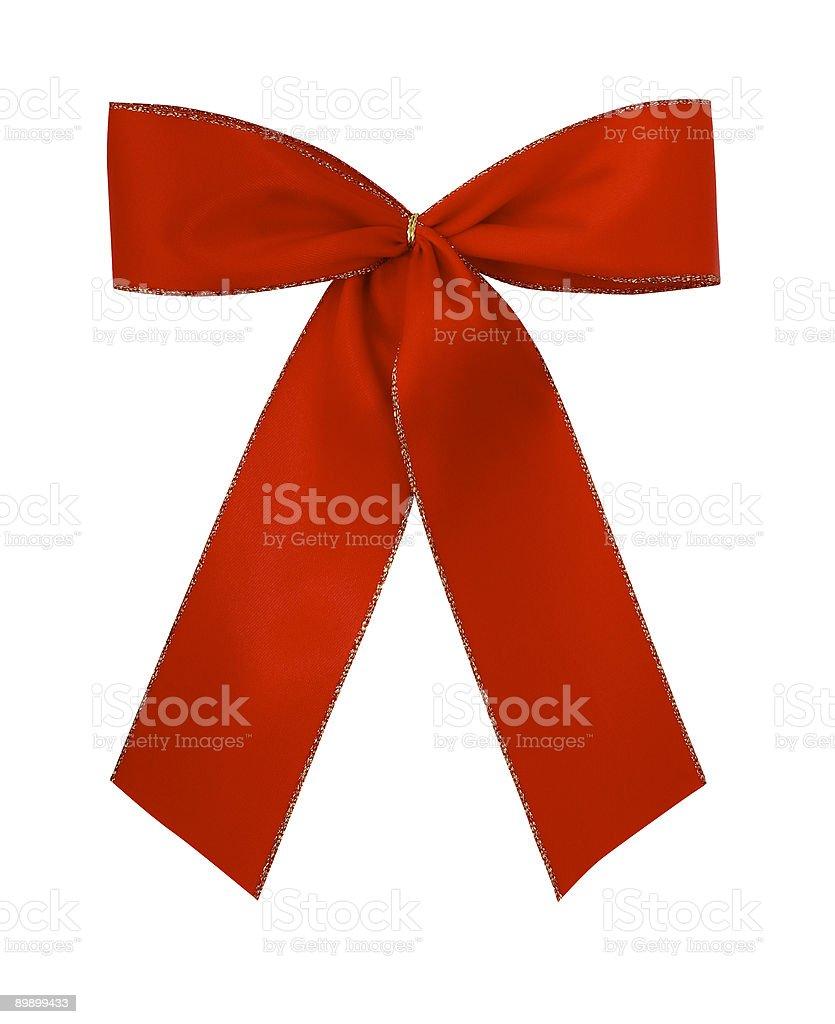 Классический красный giftbow Стоковые фото Стоковая фотография