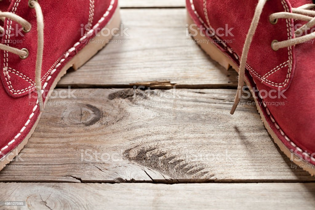 Classic red shoes stock photo