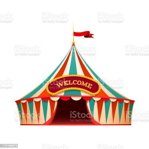 Classic red yellow travel circus tent on wite background with picture id1151866874?b=1&k=6&m=1151866874&s=612x612&h=6b6glh0ennq2drpyfdscgtri6jwvmrc5injozjboi34=