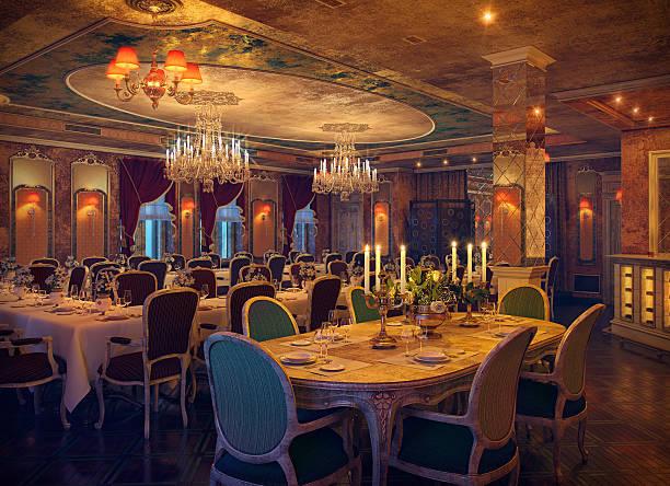 klasyczne wnętrze restauracji - sala balowa zdjęcia i obrazy z banku zdjęć