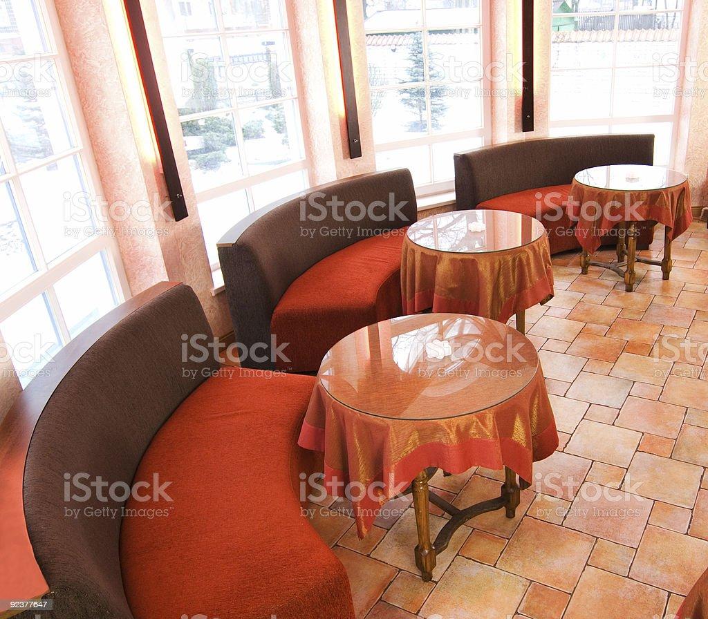 Classic restaurant interior royalty-free stock photo